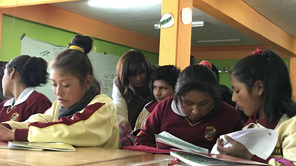 For troubled school in Peru, a useless class hour becomes a turning point
